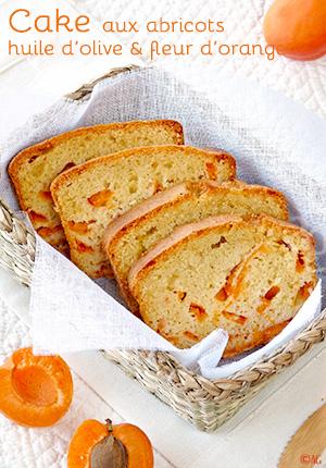 Cake aux abricots, huile d'olive & fleur d'oranger
