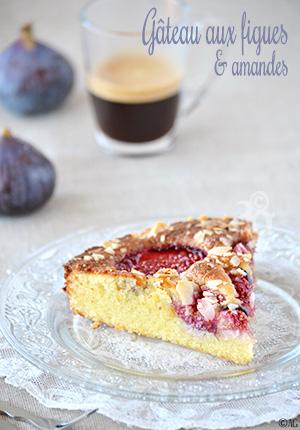 Gâteau aux figues fraîches & amandes