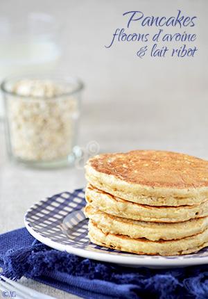 Pancakes aux flocons d'avoine & lait ribot