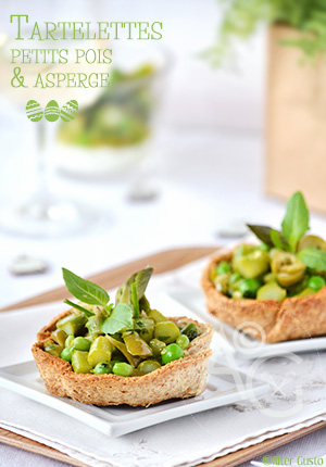 Tartelettes printanières aux petits pois & asperge – Pâques #2