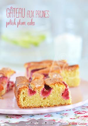 Gâteau aux prunes - Polish plum cake Alter Gusto