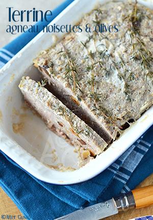 Terrine à l'agneau, noisettes & olives Alter Gusto
