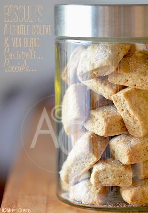 Canistrelli... Cucciole… Biscuits à l'huile d'olive & vin blanc