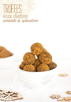 Truffes aux dattes, amande & spéculoos