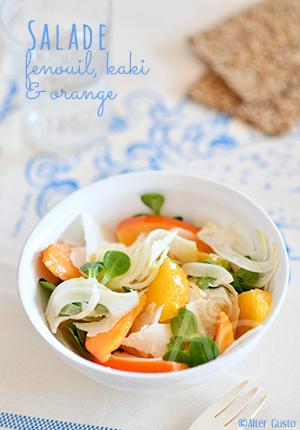 Salade de fenouil, kaki & orange