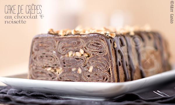 Cake de crêpes au chocolat & noisette Alter Gusto