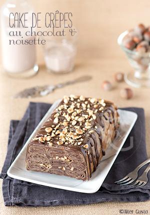 Cake de crêpes au chocolat & noisette
