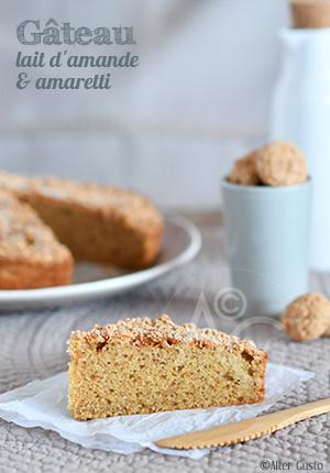 Gâteau au lait d'amande & amaretti