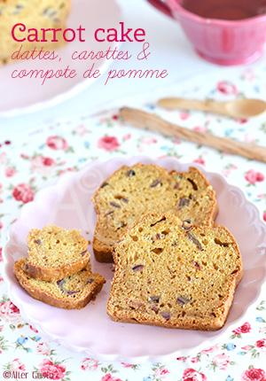Carrot cake – Cake aux carottes & compote de pomme