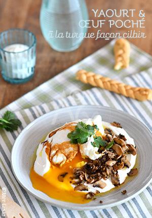 Yaourt & œuf poché à la turque façon cilbir