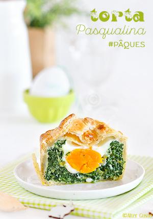 Tourte aux épinards & œuf –Torta Pasqualina pour Pâques