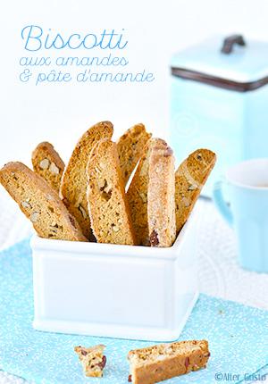 Biscotti aux amandes & pâte d'amande
