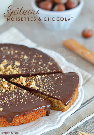 Gâteau aux noisettes & chocolat (ou pas)
