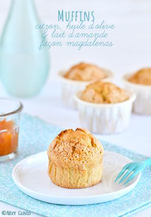 Muffins au citron, huile d'olive & lait d'amande façon magdalenas
