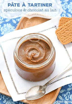 Pâte à tartiner aux spéculoos & chocolat au lait