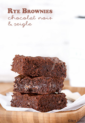 Rye Brownies – Brownies au chocolat noir & farine de seigle