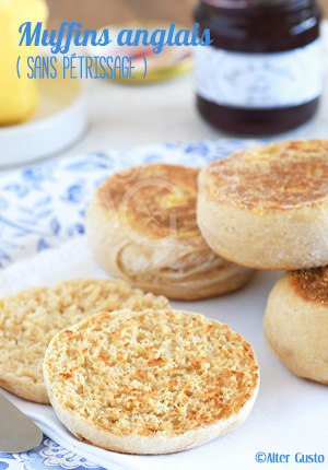 Muffins anglais ( sans pétrissage )