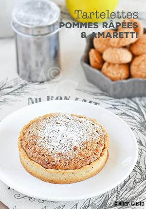 Tartelettes aux pommes râpées & amaretti