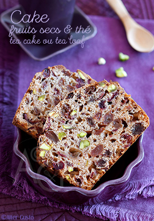 Cake aux fruits secs & thé – Dattes, raisins, cranberries – Tea cake ou Tea Loaf