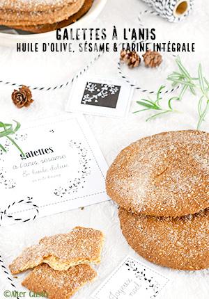 Galettes à l'anis, huile d'olive, sésame & farine intégrale façon tortas de aceite