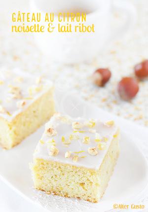 Gâteau au citron, noisette & lait ribot
