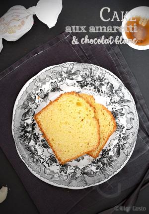 Cake aux amaretti & chocolat blanc