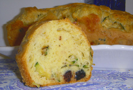 Cake olives, courgettes & St Marcellin