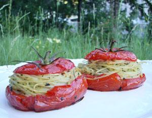tomates farcies spaghetti