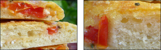 focaccia tomate feta
