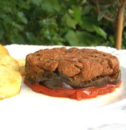 Tian d'agneau confit, aubergines & tomates