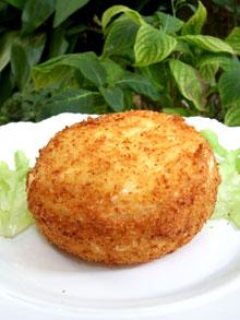 Camembert crousticoulant entier & pané à la noix de coco … un must pour les amateurs de coulant !