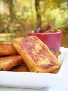 Beignets de courgettes à la farine de pois chiche & coriandre