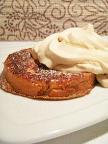 Brioche perdue au cacao & chantilly de crème de marrons