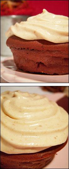 Cupcakes aux deux chocolats & crème de marrons