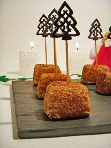 Cubes croustillants de risotto aux cèpes & sauge