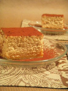 Cheesecake aux amaretti, café & Marsala … Saveur Tiramisu