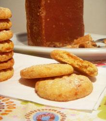 Sablés aux éclats de pain de sucre doré