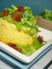 Flan au parmesan & mascarpone – Budino di parmigiano con verza e crostini, une recette Sale & Pepe