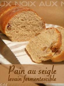 Pain aux noix, seigle & levain fermentescible