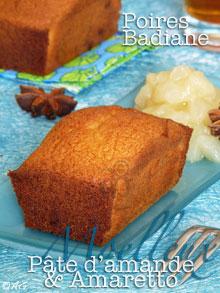 moelleux à la pâte d'amande