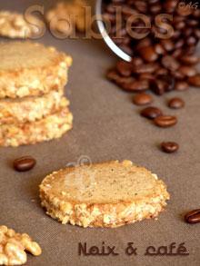 Sablés aux noix & café