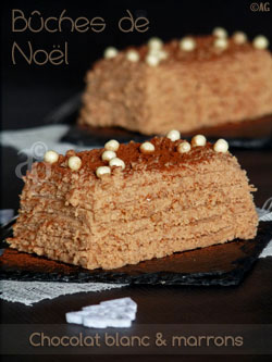 buche au chocolat blanc & marron