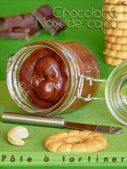 Pâte à tartiner au chocolat noir & noix de cajou