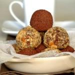 Truffes au chocolat noir & beurre de cacahuète