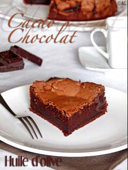 Gâteau au chocolat, cacao & huile d'olive