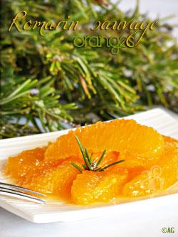Suprêmes d'orange au sirop de romarin sauvage