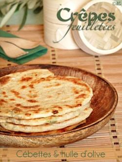 Crêpes feuilletées aux cébettes (scallion pancakes)