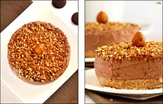 cheesecake au chocolat et nutella