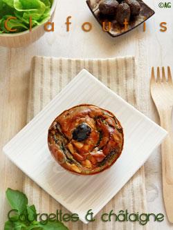 Mini clafoutis aux courgettes & farine de châtaigne