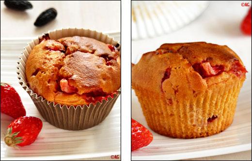 muffin aux fraises